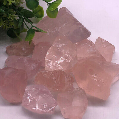 Rough Stone Specimen Natural Stone Mineral Natural Raw Pink Rose Quartz Crystal