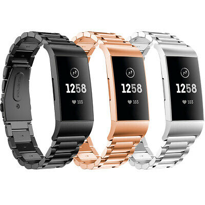 For FitBit Charge 3 Sport Watch Metal Strap Stainless Steel Wrist Band Wristband
