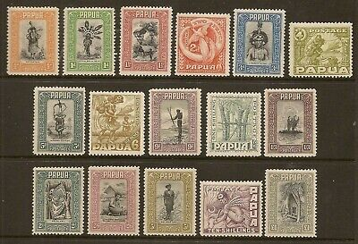 Papua 1932 Pictorial Set To £1 Sg130/45 Lghtly Hinged
