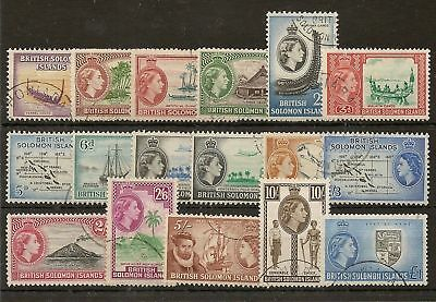 Solomon Islands 1956-65 Definitives To £1 Sg82/96 Very Fine Used