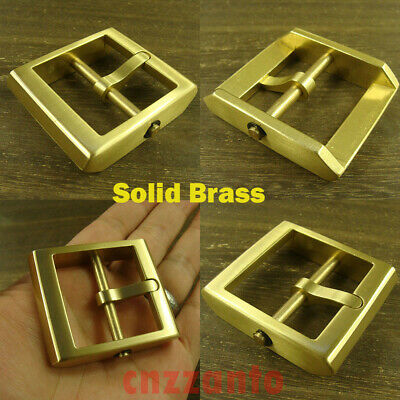 "Heavy duty Solid Brass Classical Tongue Pin Hippie Belt Buckle 1 1/2"" Z376"