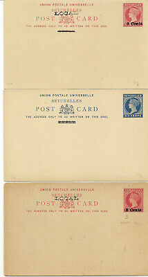Seychelles Postal & Reply Cards 1890-1912 Qv (13) Items