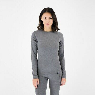 Knox Dry Inside Ladies Dual Active Mia Grey All Season Base Layer Top New