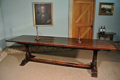 17th Century Oak Refectory Table Seating 10 - 12