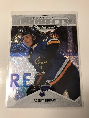 18/19 UD Parkhurst Prominent Prospects Robert Thomas #PP-21 Blues