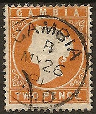 GAMBIA 1886-93 2d CAMEO SG25w FU CAT £400