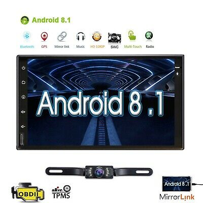 """7"""" Android 8.1 OREO In-Dash Car GPS Navigation 2 Din Car Stereo Radio Player+Cam"""
