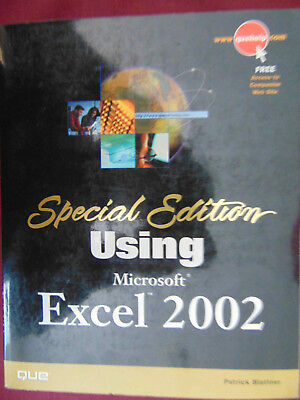 Special Edition Using Microsoft Excel 2002 Book Brand New