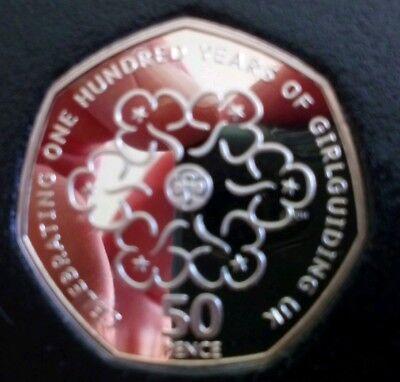 2010  Proof Girl guides 50p coin. low Mintage of proof, top condition