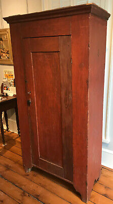 c1840 Country Pantry Cupboard in Old Red