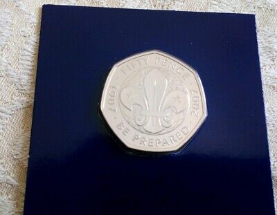 Choose your 2019 50p coin. girl guides or scouts, sealed brilliant uncirculated
