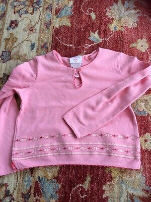 Laura Ashley Girls Pretty Pink Top Age 9 Years Excellent Condition 🍏