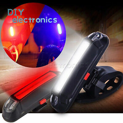 USB Rechargeable COB LED Bike Cycling MTB Bike Front Rear Tail Light Taillight