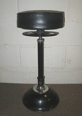 Antique Industrial RITTER REST AND RELIEF Cast Iron and Chrome Dental Stool #2