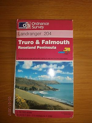 Truro and Falmouth, Roseland Peninsula by Ordnance Survey  map, folded, 1997