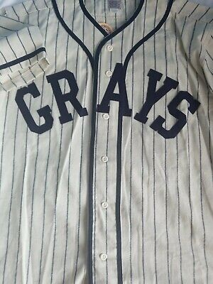 023a0146 MLB Authentic Jersey Ebbets Field Flannels Josh Gibson Homestead Grays  🔥🔥🔥🔥