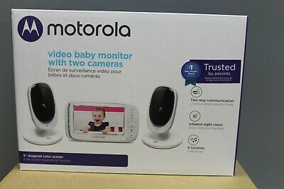 "Motorola Comfort 50-2 Video Baby Monitor 5"" LCD Color Display and 2 Cameras -NEW"