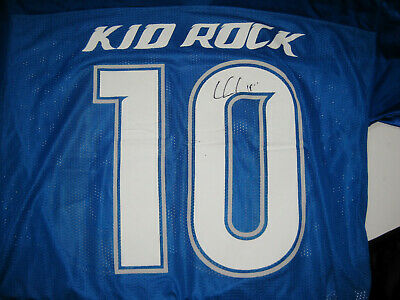 Kid Rock Signed DETROIT LIONS 00 F**KS GIVEN FOOTBALL JERSEY American Badass