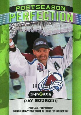 2018-19 Upper Deck Synergy Postseason Perfection Ray Bourque Green #182/199