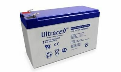 Batteria Ermetica al Piombo AGM Ultracell UK 12V DC 9.0AH Ampere 151x65x93.5mm