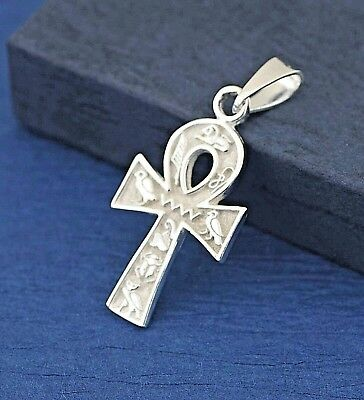 Sterling Silver Ankh Keychain Pendant, Silver Egyptian Cross,