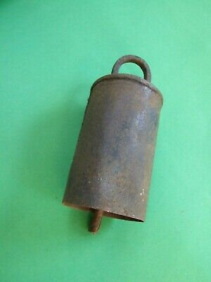 Vintage Antique Cow Bell Animal Primitive  Rustic Metal Good Sound
