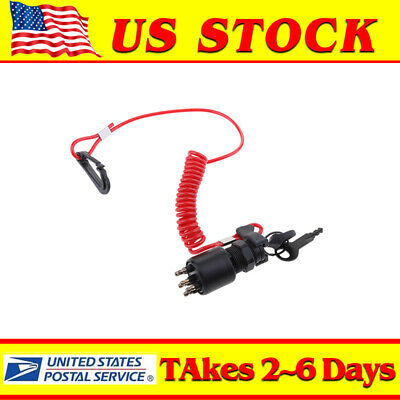 OEM Ignition Key Switch w// Lanyard Assembly 5005801 175974 For Evinrude OMC BRP