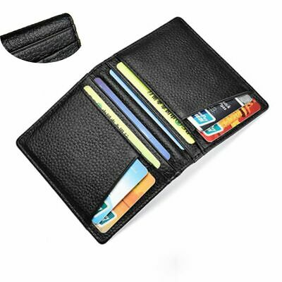 Super Slim Soft Men's Wallet Genuine Leather Mini Credit ID Card Holders Fashion