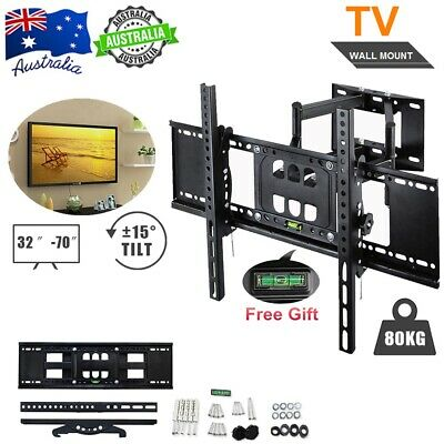 32-70'' 80KG LED LCD TV Wall Mount Stable Strong Support Swivel Arms Bracket