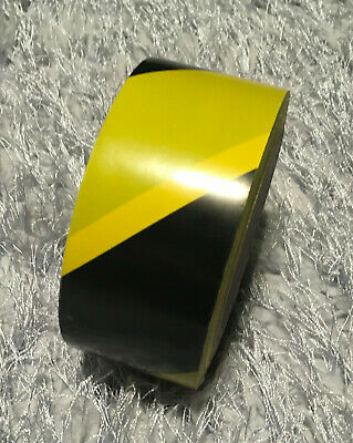 Black Yellow Tape Warning Safety Sticky Conspicuity Floor Traffic Parcking Signs