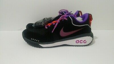 c866116478536 Mens Nike ACG Dog Mountain Running Trail Shoes Black Purple White AQ0916 001