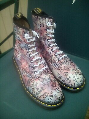 Dr Martens Made in England Rare London Icon Pattern Size 3 uk Vntage Boots