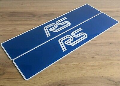 Pair of Focus RS MK1 Show Number Plates