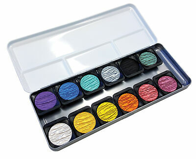 Finetec F1200 Artist Pearlescent Watercolor Paint 12-Color Set