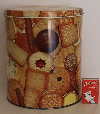 Willow Biscuit Tin Colour Family Assorted Biscuits Images Aust Vintage 1950s *