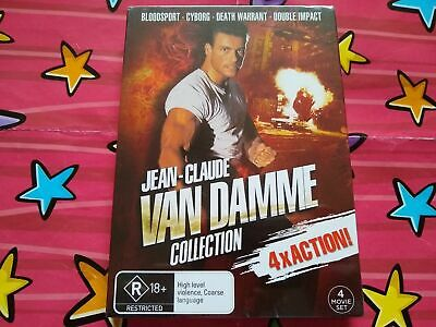 Jean-Claude Van Damme Collection 4x DVD Bloodsport / Cyborg / Double Impact