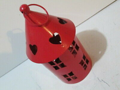 New Round Red tealight Candle lantern.