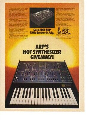 1978 VINTAGE PRINT Ad For Arp Omni-2 Synthesizer Rock N Roll Band