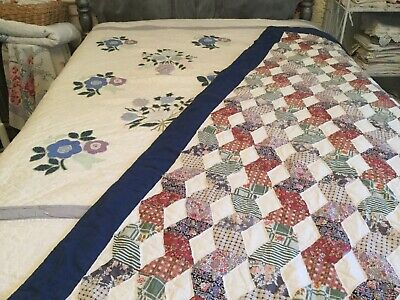 "Lot Of 2 Cutter Quilts - Appliqué ""Arch Quilts"" And Children's Blocks"