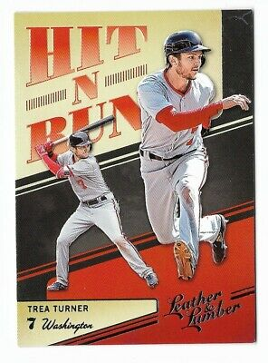 Trea Turner 2019 Leather & Lumber Hit N Run #HNR-12 Washington Nationals Insert