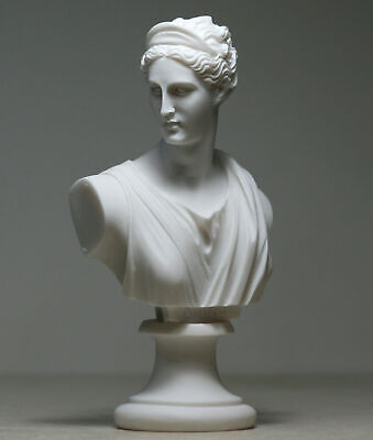 ARTEMIS DIANA Bust Head Greek Roman Goddess Statue Handmade Sculpture 5.91 in