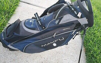 New Maxfli Honors Plus Golf Stand Bag 14 Way Top Grey White Red Rain Hood 109 97 Picclick