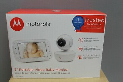 "Motorola MBP36XL Video Baby Monitor Pan/Tilt/Zoom 5"" Color Screen - New"