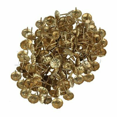 100pcs UPHOLSTERY NAILS Antique Brass for Sofa, Classic Door Decoration