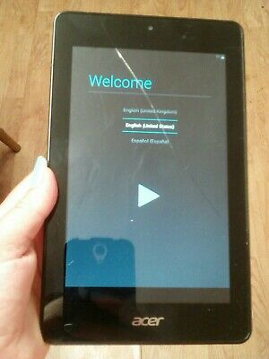 """Acer iconia one 7"""" inch tablet 16GB yellow"""