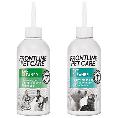 Frontline Pet Care Ear Cleaner Eye Cleaner Dog Cat Puppy Kitten Soothing Natural