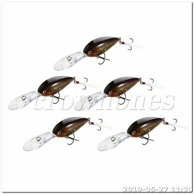 5pcs Plastic Fishing Lures Topwater Floating Lure Hooks Bait Bass stlye J