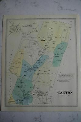 Map 1868 Canton, Connecticut FW Beers