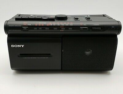 SONY CFM-30TW Weather Band AM/FM Radio Cassette Player / Recorder TESTED
