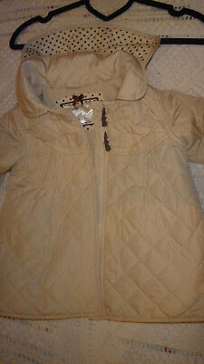 Mothercare Girl Ivory Coat Age 18-24 Month Hood Warm Winter Jacket
